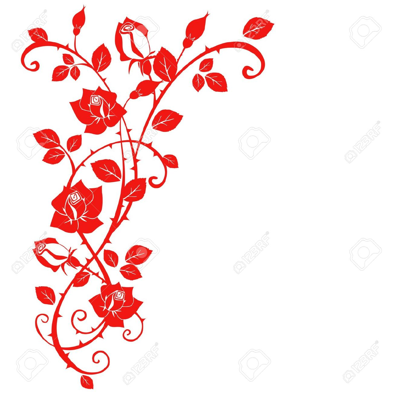 1300x1300 Red Flower Clipart Thorn 3845542