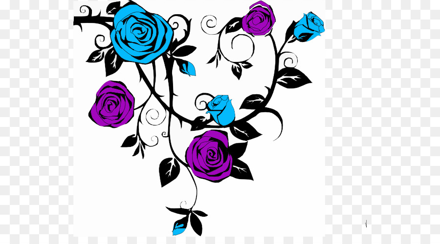 900x500 Rose Drawing Vine Clip Art