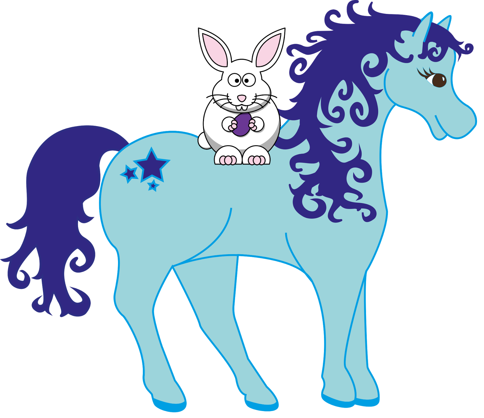 1600x1383 Free Horse Easter Clipart (Personal And Commercial Use