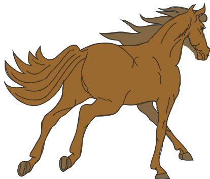 414x353 Free Brown Horse Clipart, 1 Page Of Public Domain Clip Art