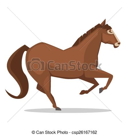 450x470 Cartoon Horse. Cartoon Illustration Of The Brown Horse Clip Art