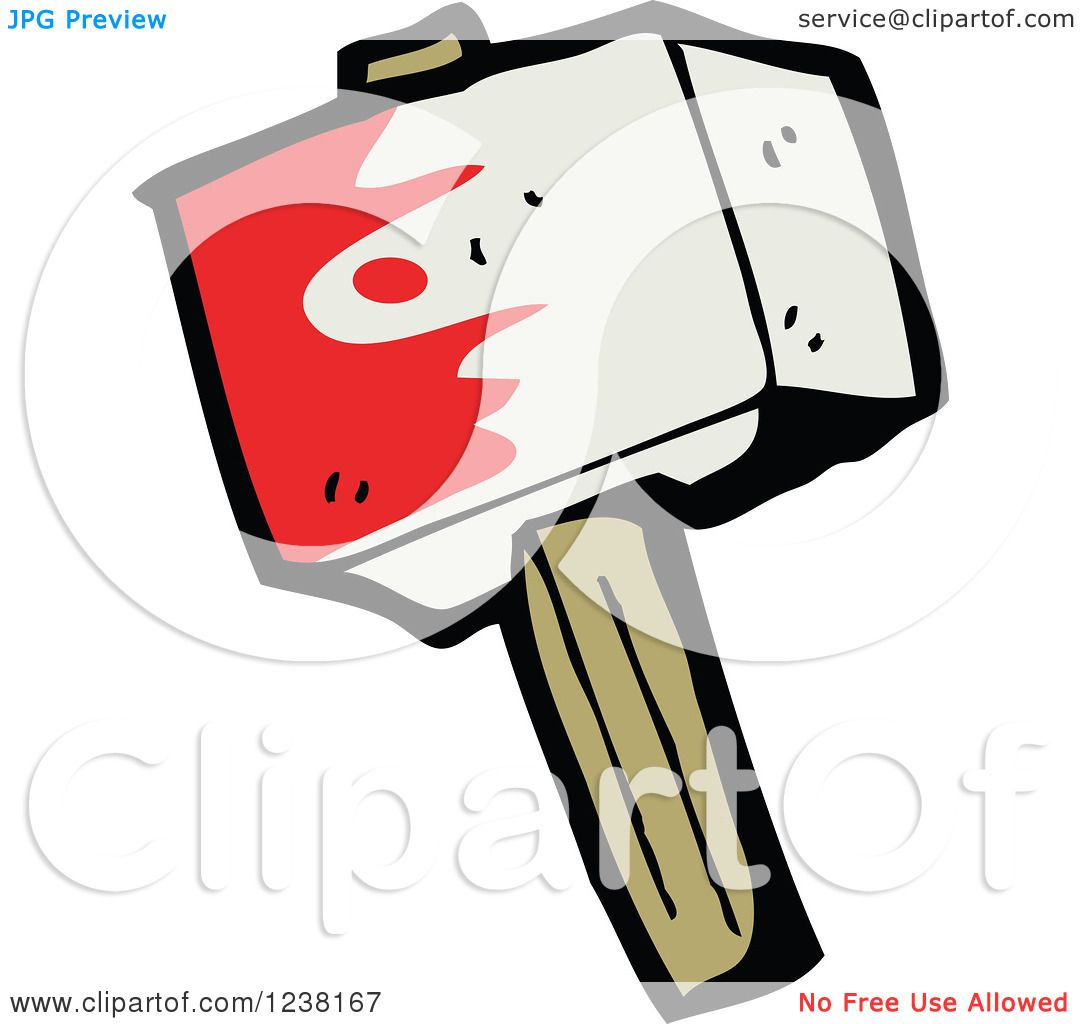1080x1024 Clipart Of A Bloody Hammer