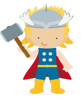 288x345 Thor Kid Clip Art Png