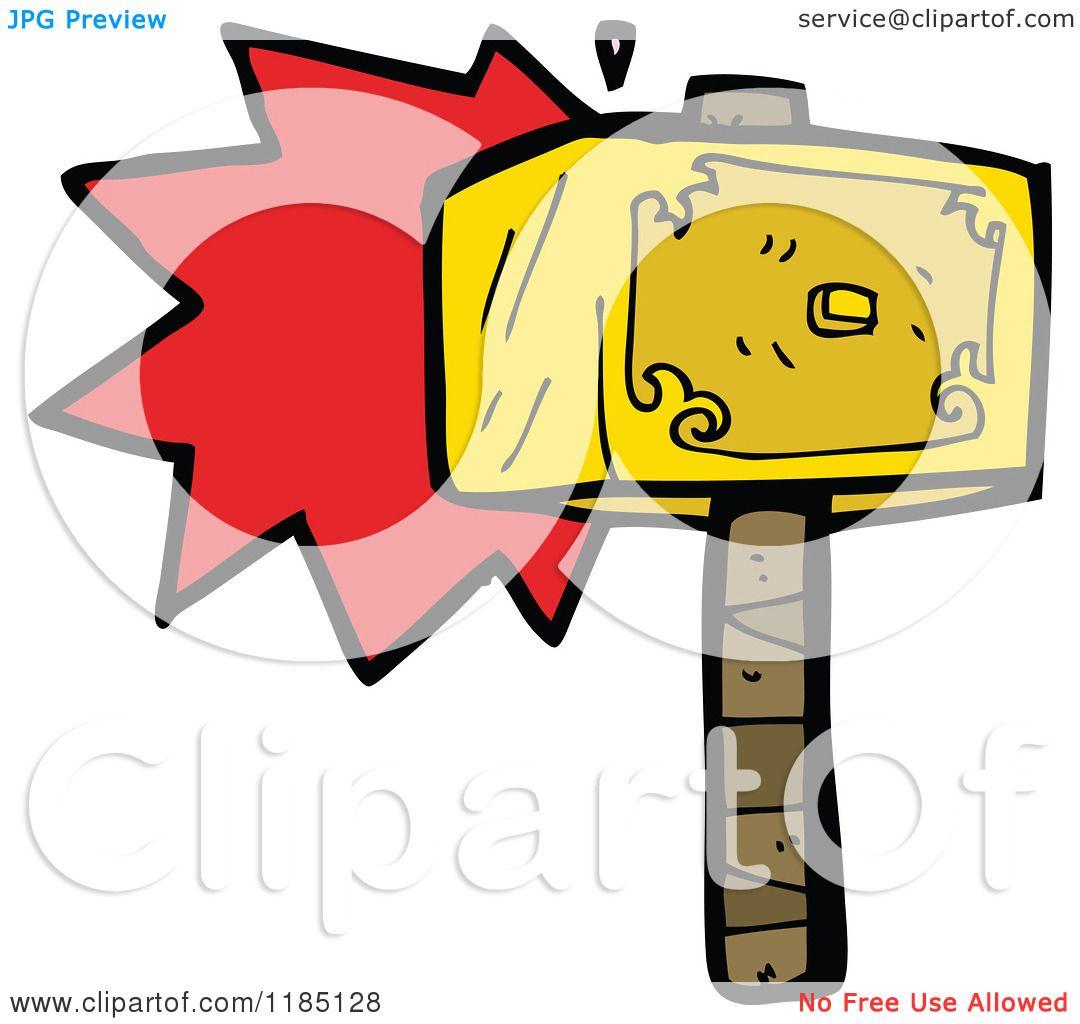 1080x1024 Cartoon Of Thor's Hammer
