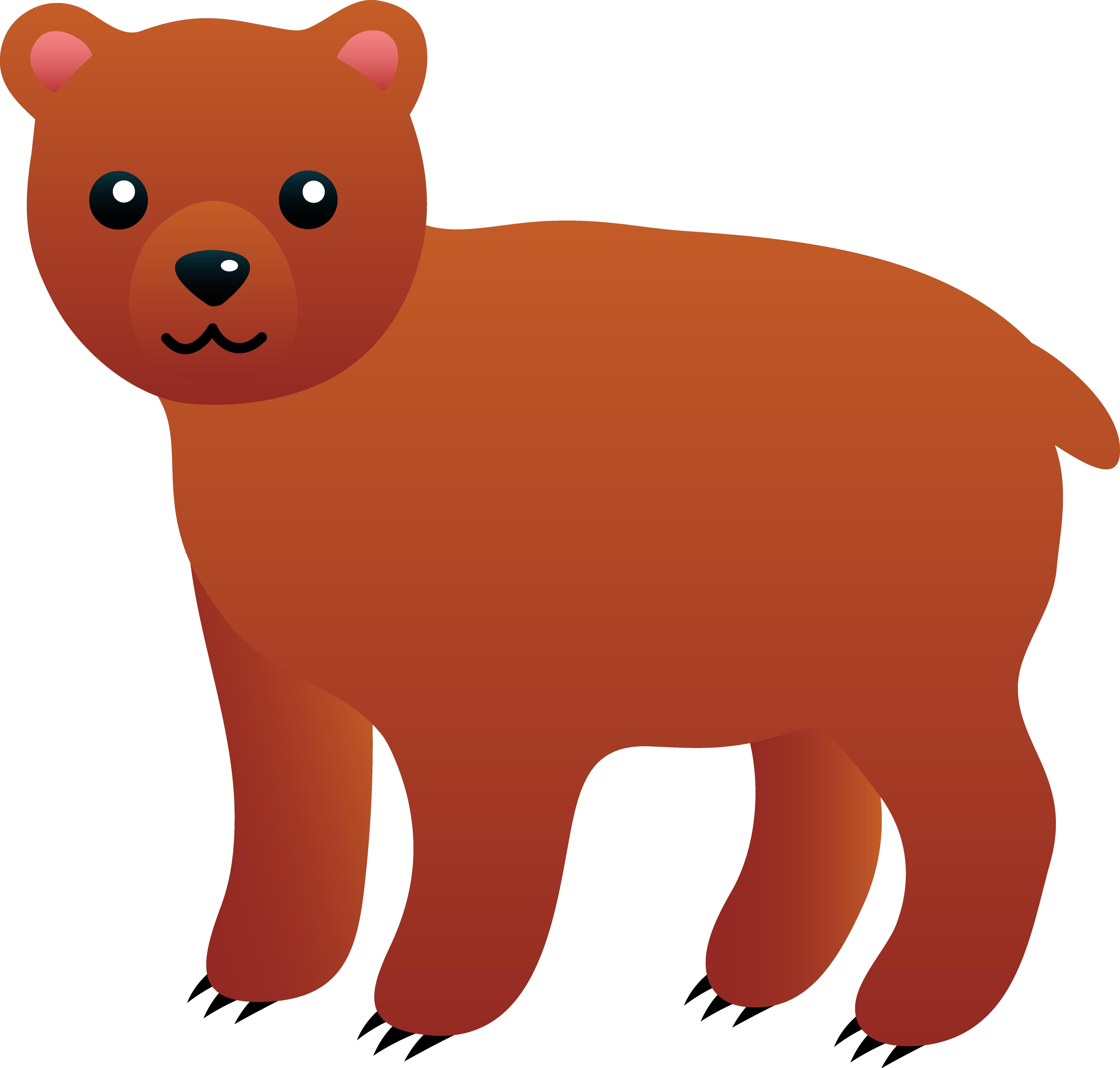 6342x6048 Brown Bears Clipart