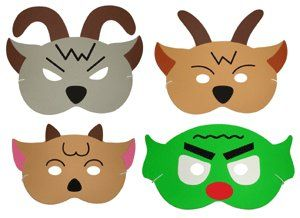 300x218 Billy Goats Gruff Storytelling Masks The Childminding Shop