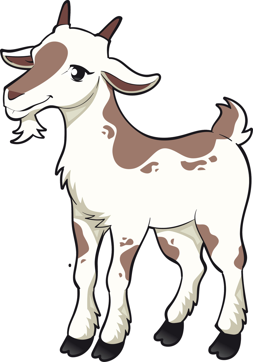 840x1200 Boer Goat Sheep Cattle Three Billy Goats Gruff Clip Art