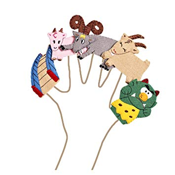 355x355 Three Billy Goats Gruff Finger Puppet Set Amazon.co.uk Toys Amp Games
