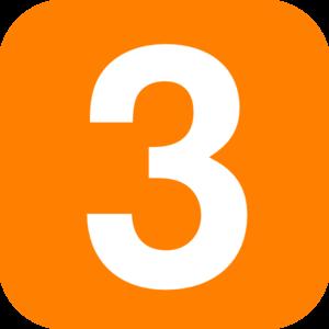 300x300 Orange Three Clip Art