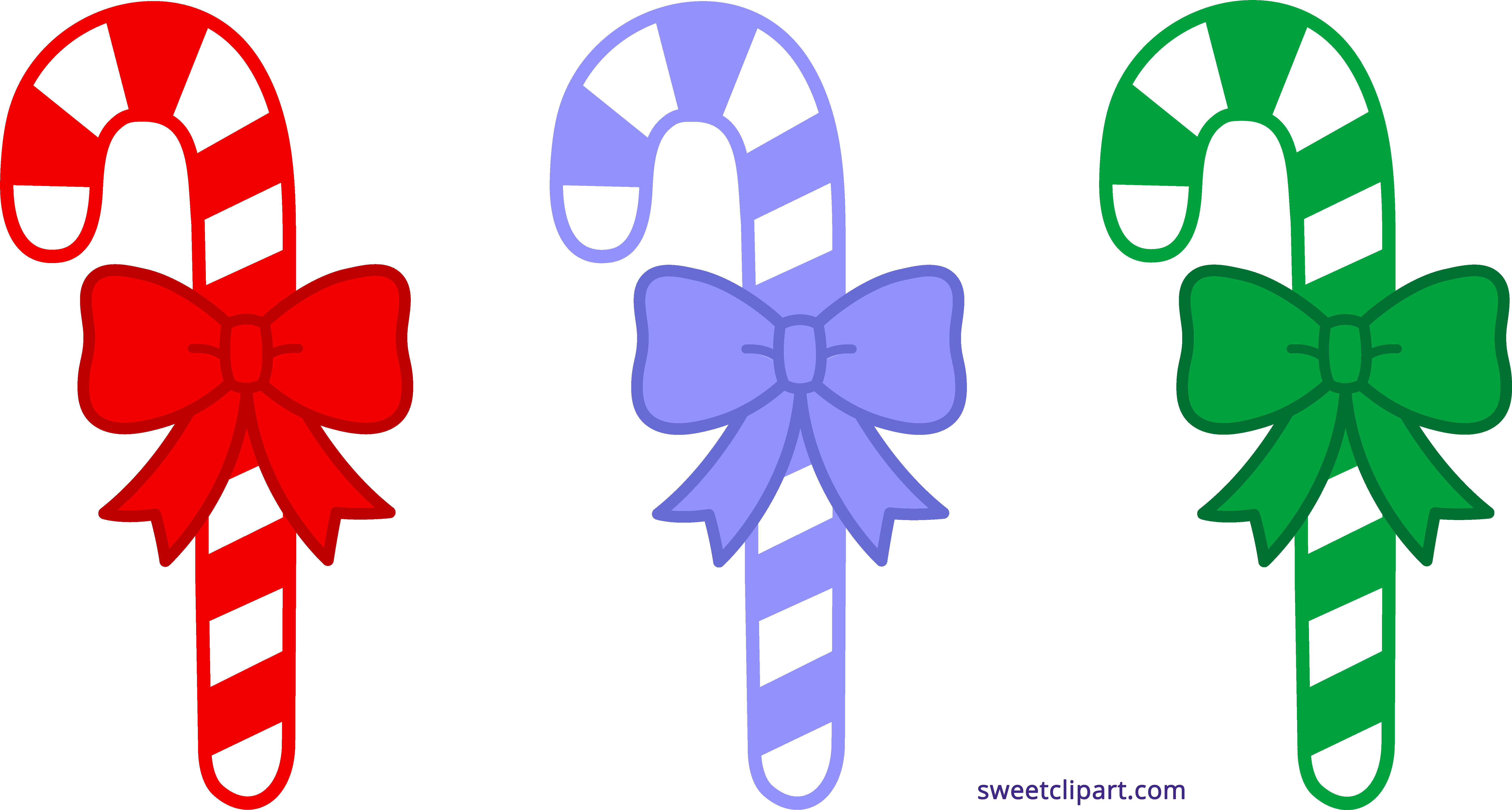 7023x3763 Three Christmas Candy Canes Clipart