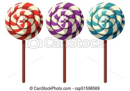 450x317 Three Flavors Of Lollipops Illustration Clip Art Vector