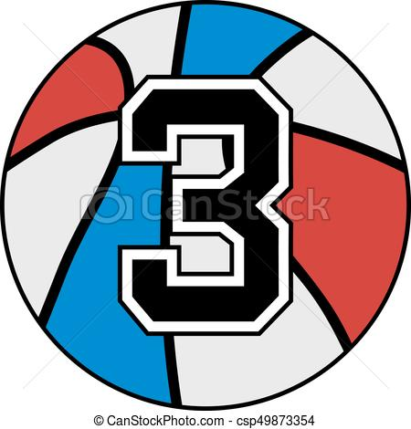 450x470 Creative Design Of Basket Number Three Clipart Vector