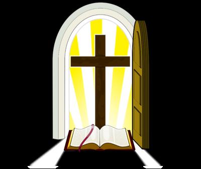 400x337 Clipart Of Bibles And Crosses Open Door Clipart Clipart Kid Art