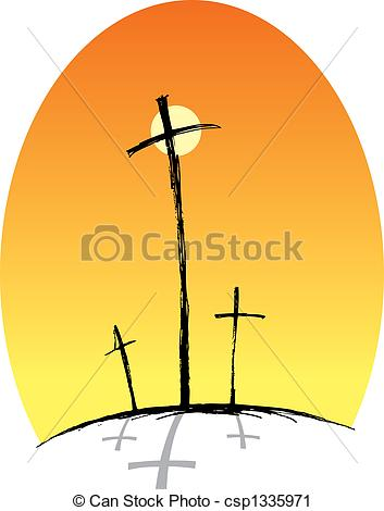 353x470 Crosses (Three) Clipart