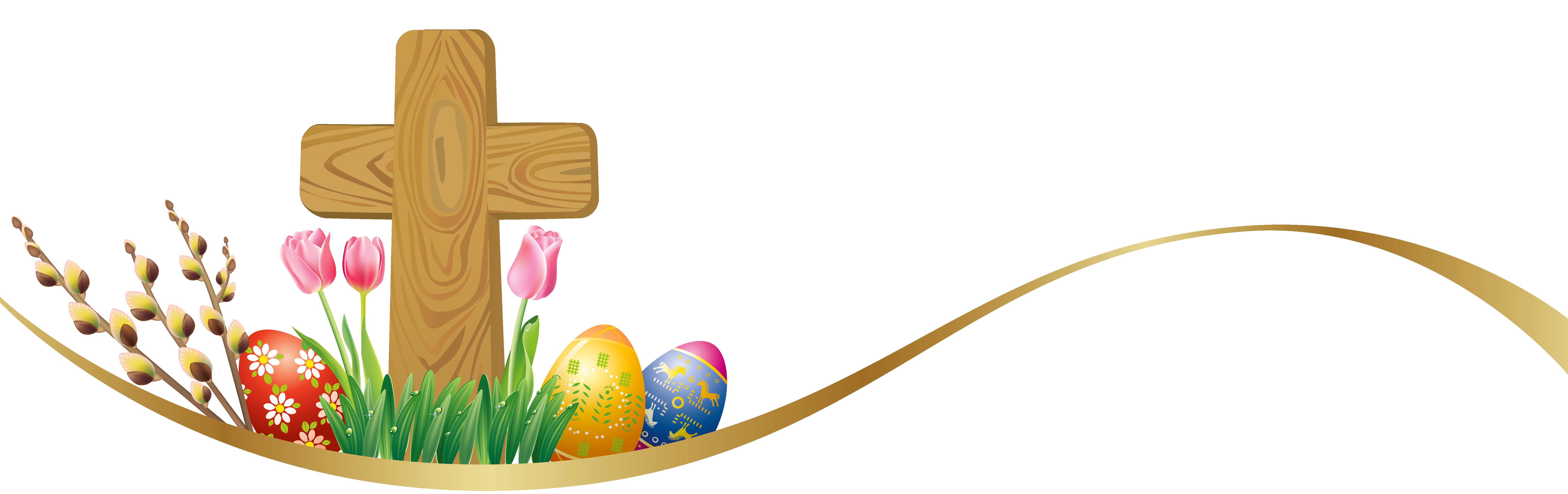 7226x2279 Easter Crosses Clipart