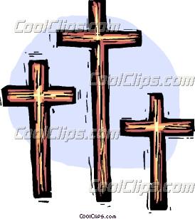 274x308 Three Crosses Clip Art