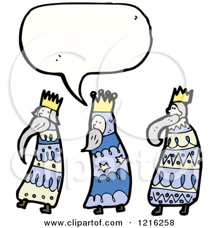 450x470 Cartoon Of Three Wise Men Speaking