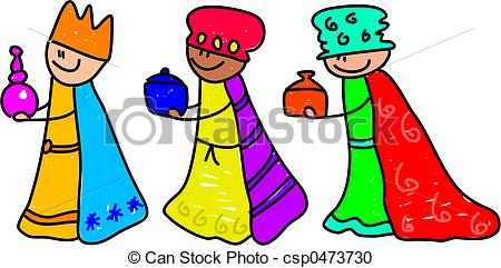 450x241 Magi Kids. Happy Little Kids Dressed Up As The Three Kings