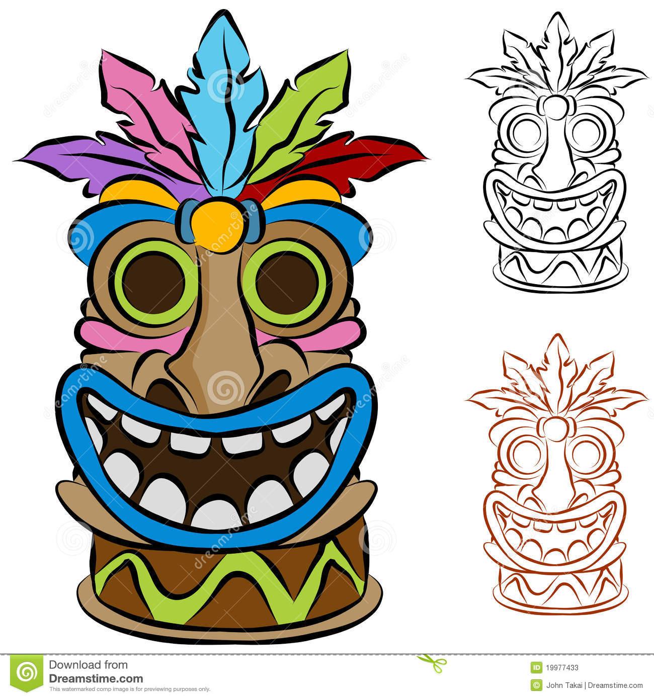 1300x1390 Mask Clipart Luau