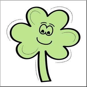 304x304 Clip Art Three Leaf Clover Smiley Color 2 I Abcteach