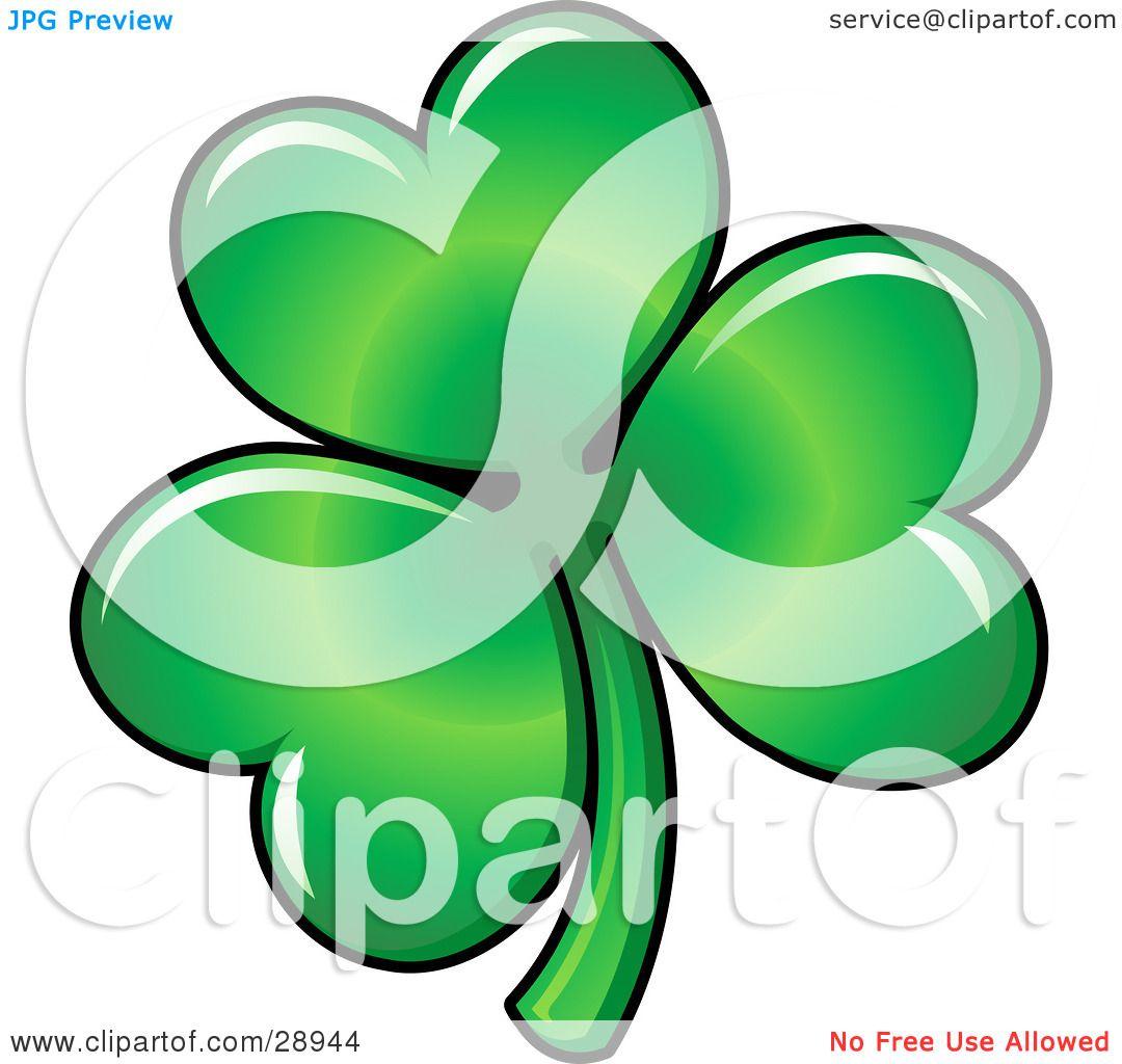 1080x1024 Clipart Illustration Of Green Three Leaved Shamrock Clover Leaf