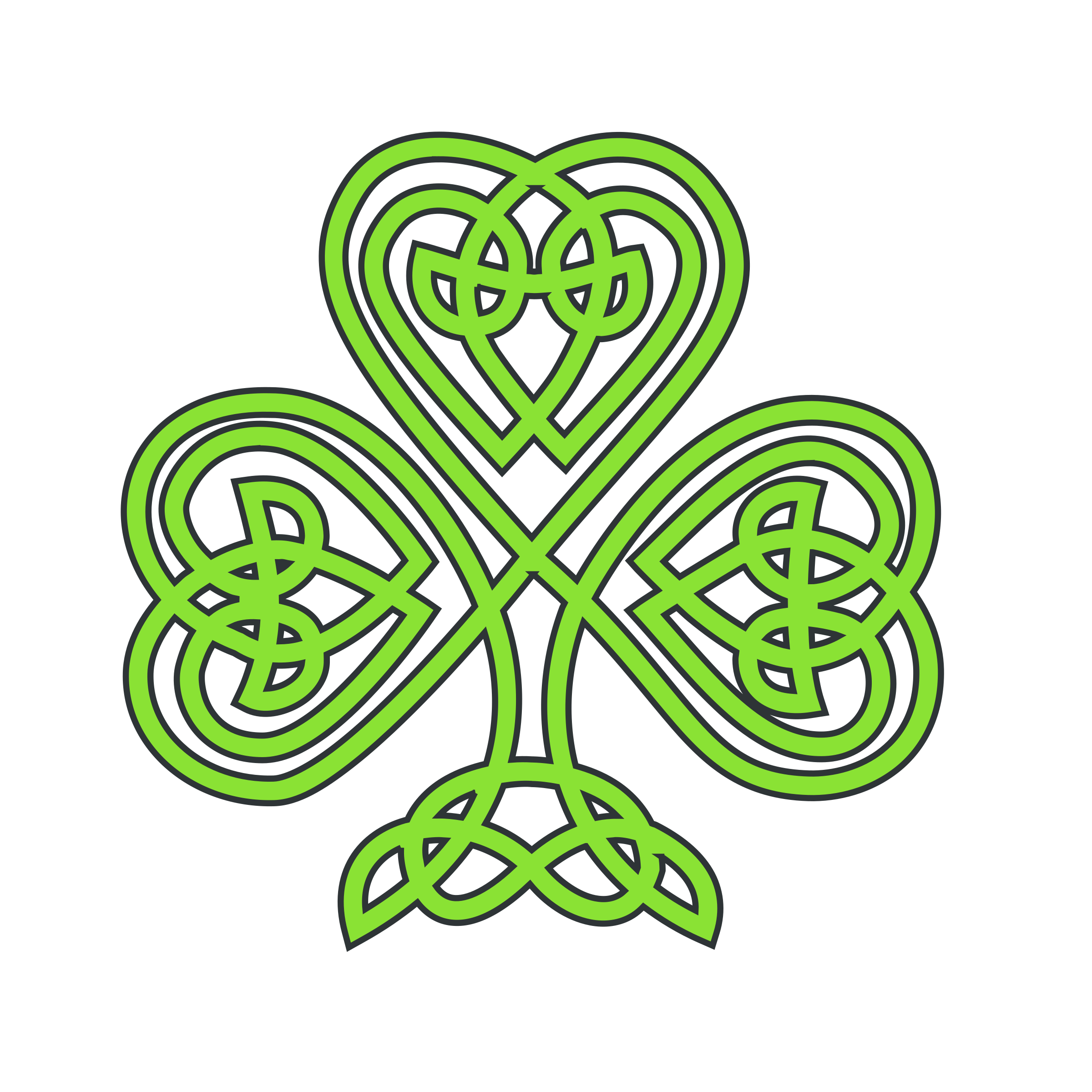 2400x2400 Collection Of Celtic Clover Clipart High Quality, Free