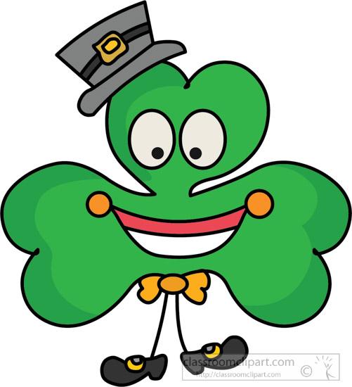 501x550 St Patricks Day Clipart Cartoon Style Three Leaf Clover Clipart
