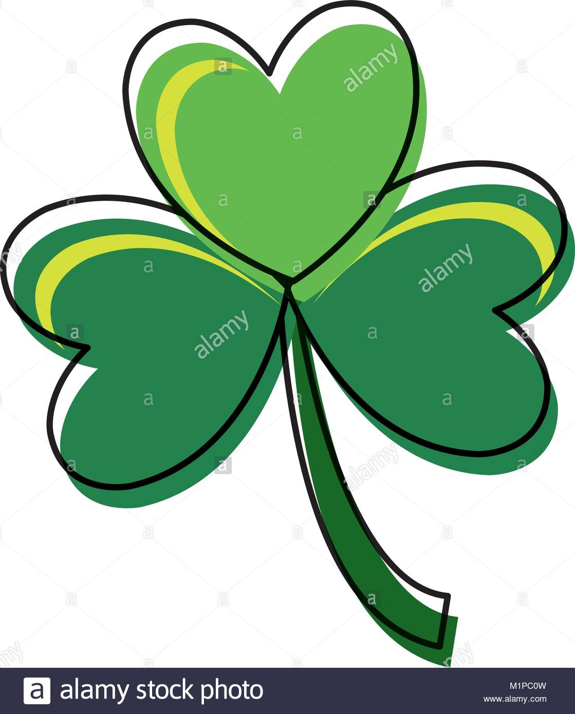 1119x1390 Three Leaf Clover Illustration Stock Photos Amp Three Leaf Clover