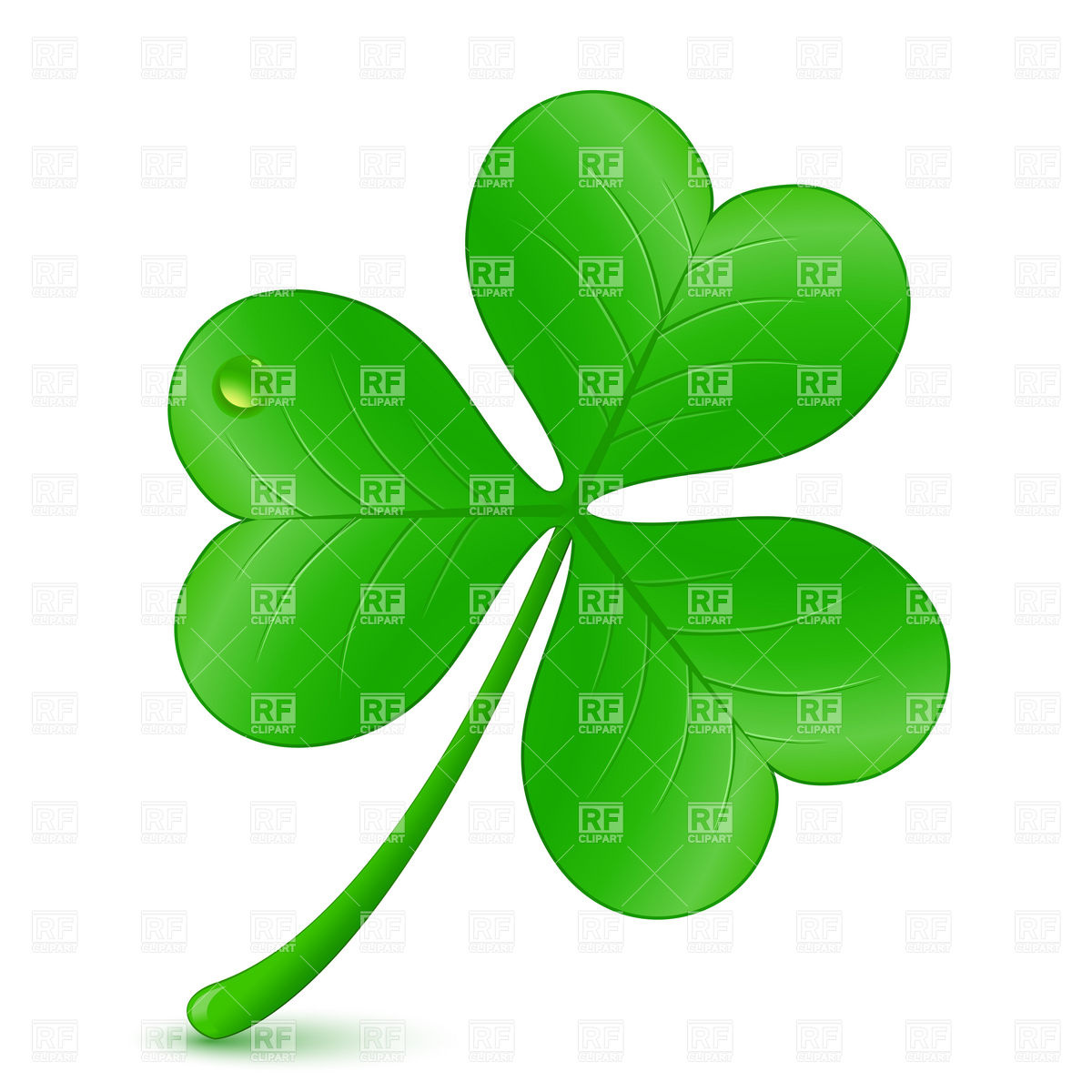 1200x1200 Three Leaf Clover, St. Patrick's Day Symbol Royalty Free Vector