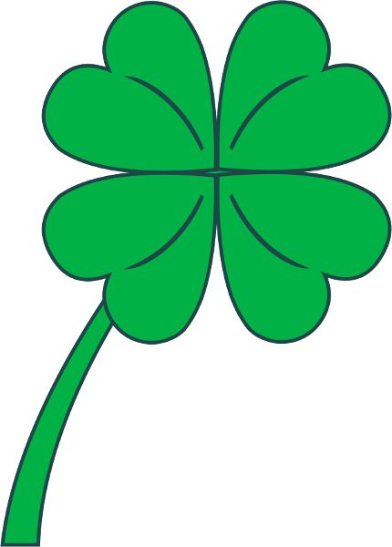 430x600 4 Leaf Clover Free Clover Clipart Holiday Stpatrick Clip Art