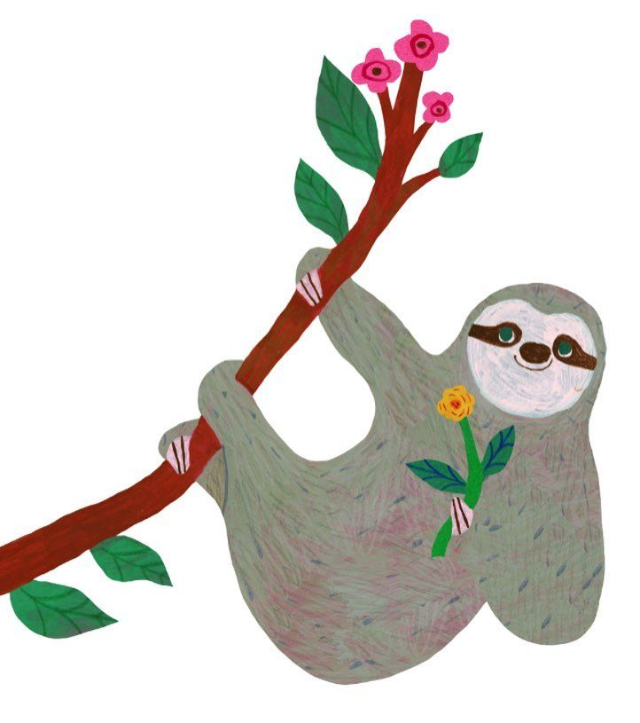 Three Toed Sloth Clipart