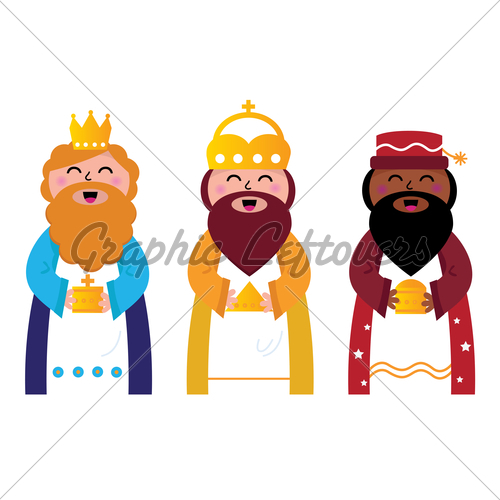 500x500 Three Wise Men Bringing Gifts To Christ, Isolat Gl Stock Images