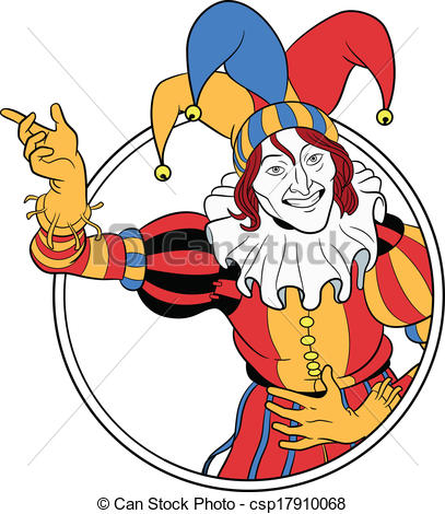 407x470 Jester Clipart
