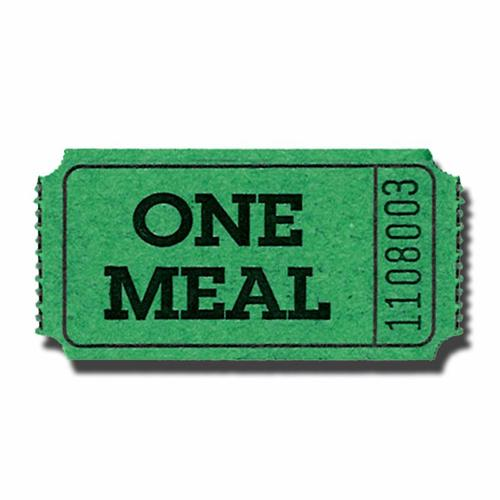 500x500 Clipart Free Meal Ticket