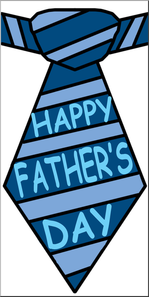 304x604 Clip Art Happy Father's Day Tie Color I Abcteach