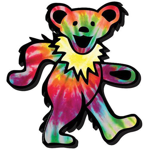 500x500 Grateful Dead Tie Dye Bear Tattoo Chunky Magnet Grateful Dead