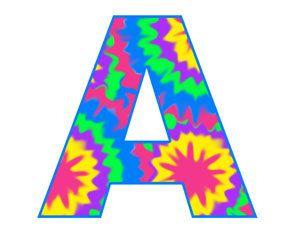 300x232 Tie Dye Alphabet Letter Digital Clip Art Graphics Icons Design