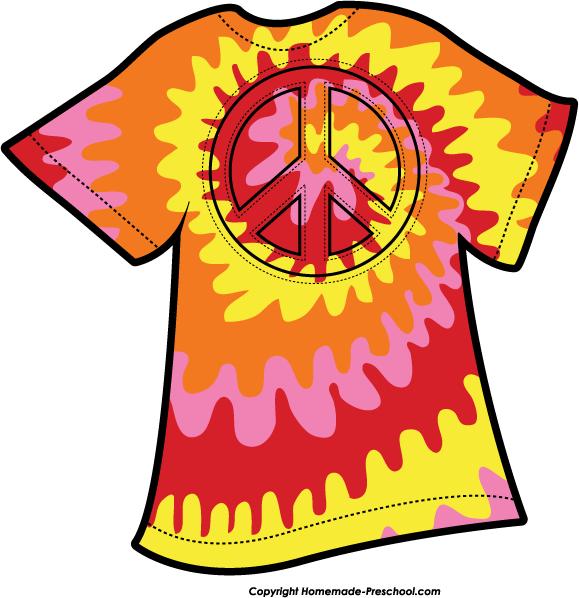 579x598 Tie Dye Shirt Clip Art N2 Free Image