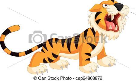 450x269 Vector Illustration Of Cartoon Tiger Roaring Vectors Illustration
