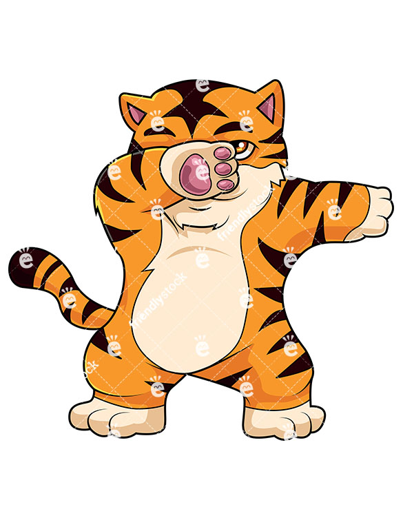 585x755 Tiger Cartoon Images Dabbing Tiger Vector Cartoon Clipart