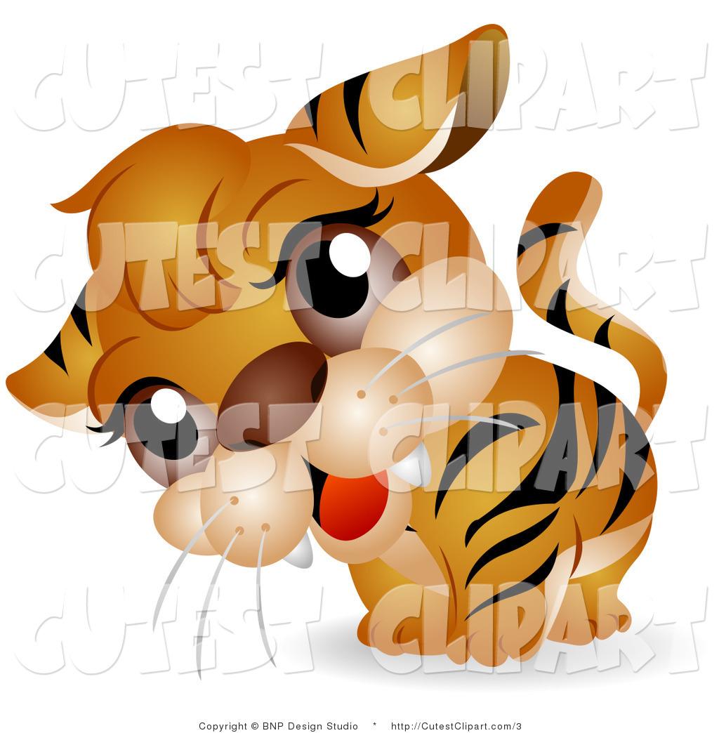 1024x1044 Clip Art Of A Curious Tiger Cub By Bnp Design Studio