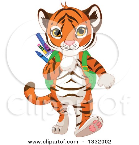 450x470 Clipart Of A Cute Baby Tiger Cub Writing In A Notebook