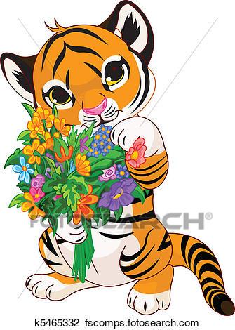 335x470 Cubs W Clip Art Vector Cartoon Clip Art Illustration A Cute Tiger