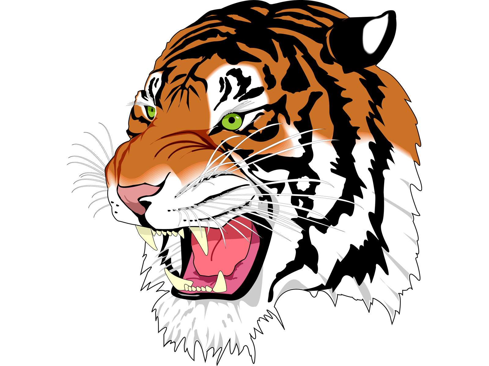 tiger face clipart at getdrawings com free for personal use tiger rh getdrawings com tiger face clipart black and white cute tiger face clip art