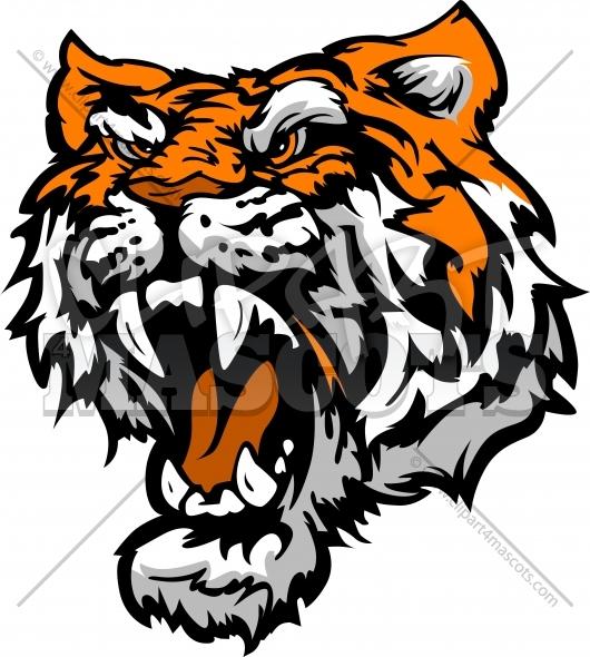 530x590 Tiger Clipart Graphic Vector Logo