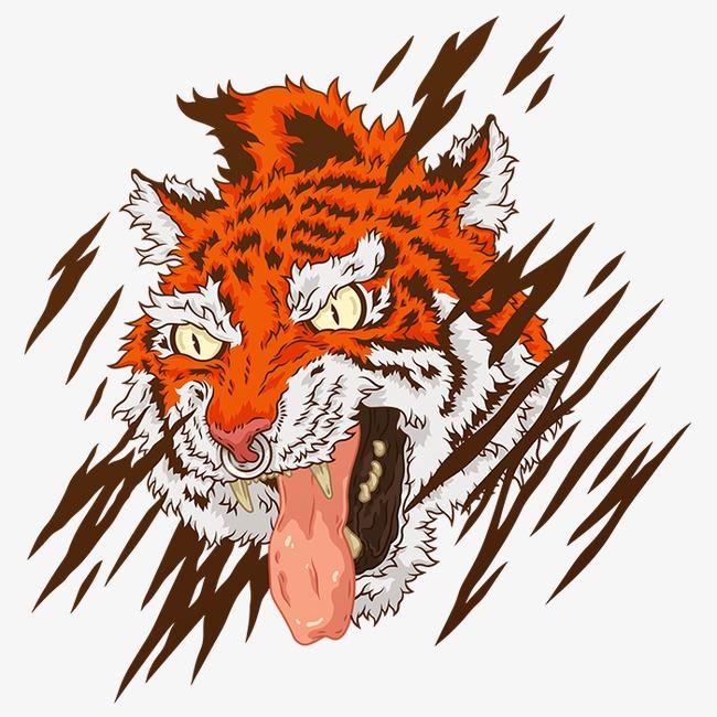 650x650 Tiger Head, Us Man, American Comics, Graffiti Png Image
