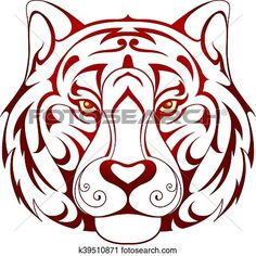 236x236 Tiger Head Tattoo Clipart Tiger Head Tattoo And Clip Art
