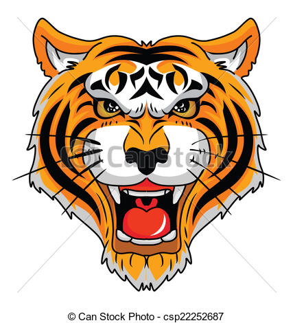 427x470 Tiger Head Vector