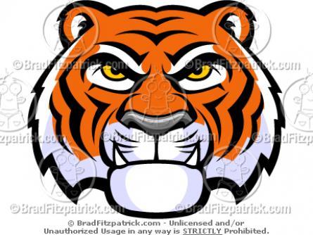 445x334 Tigres Clipart Tiger Head'94592