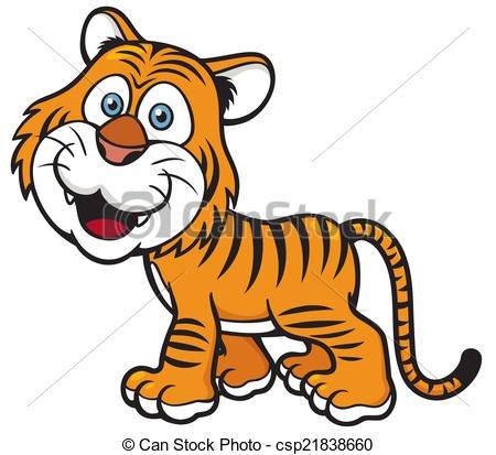 450x413 Vector Illustration Of Tiger Cartoon.